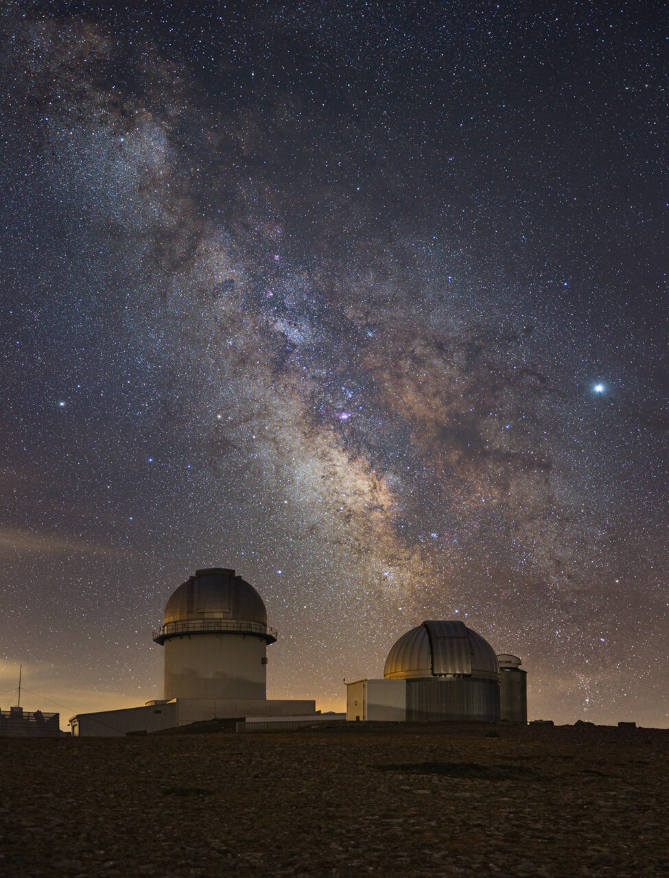 Detailed Milky Way over the observatory