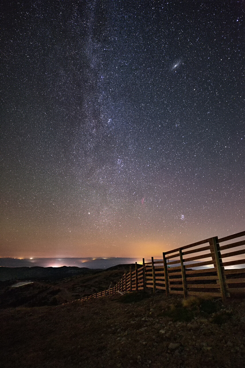 End of Milky Way and the fence