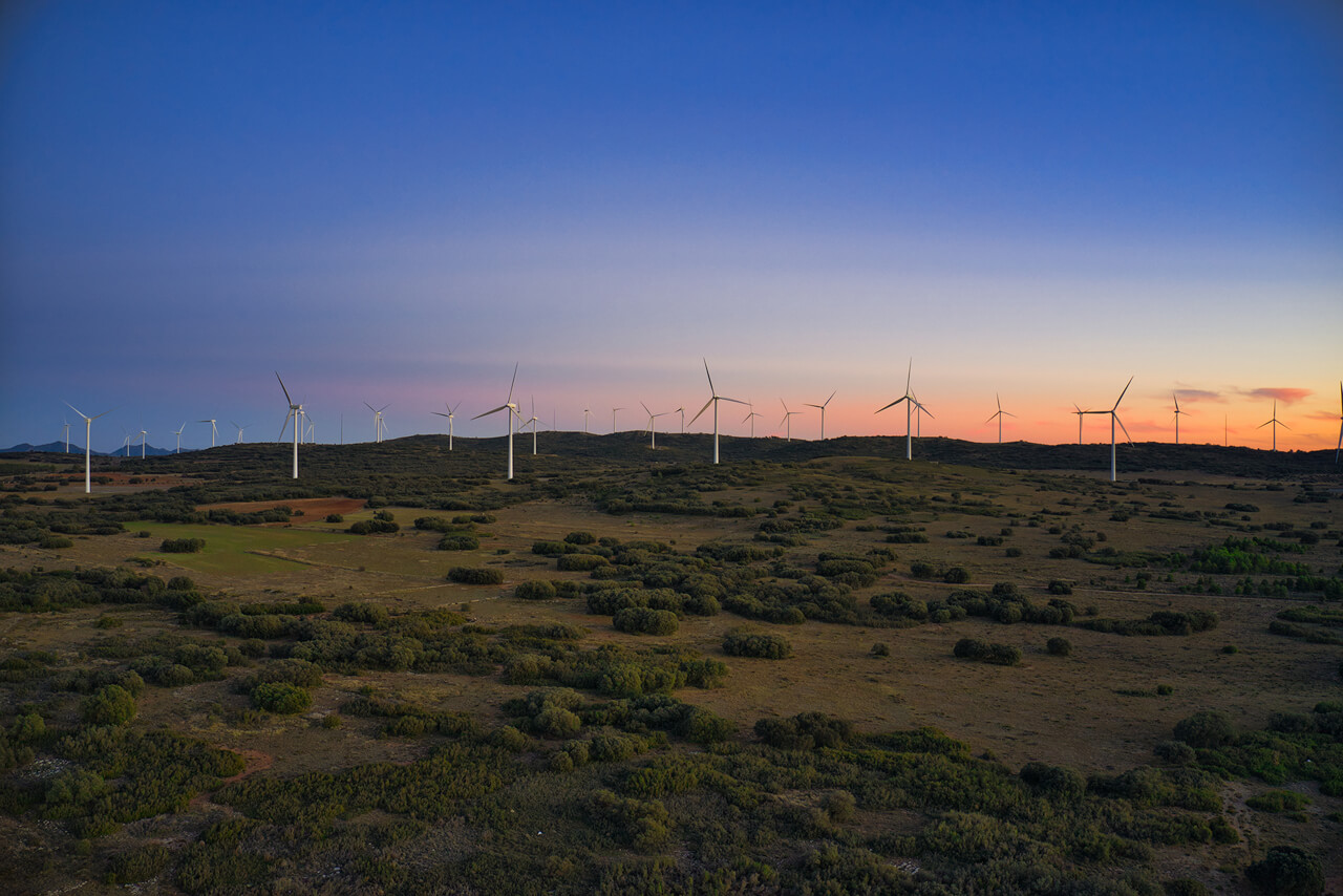 Green Energy At Sunset - DJI Mavic2 Pro