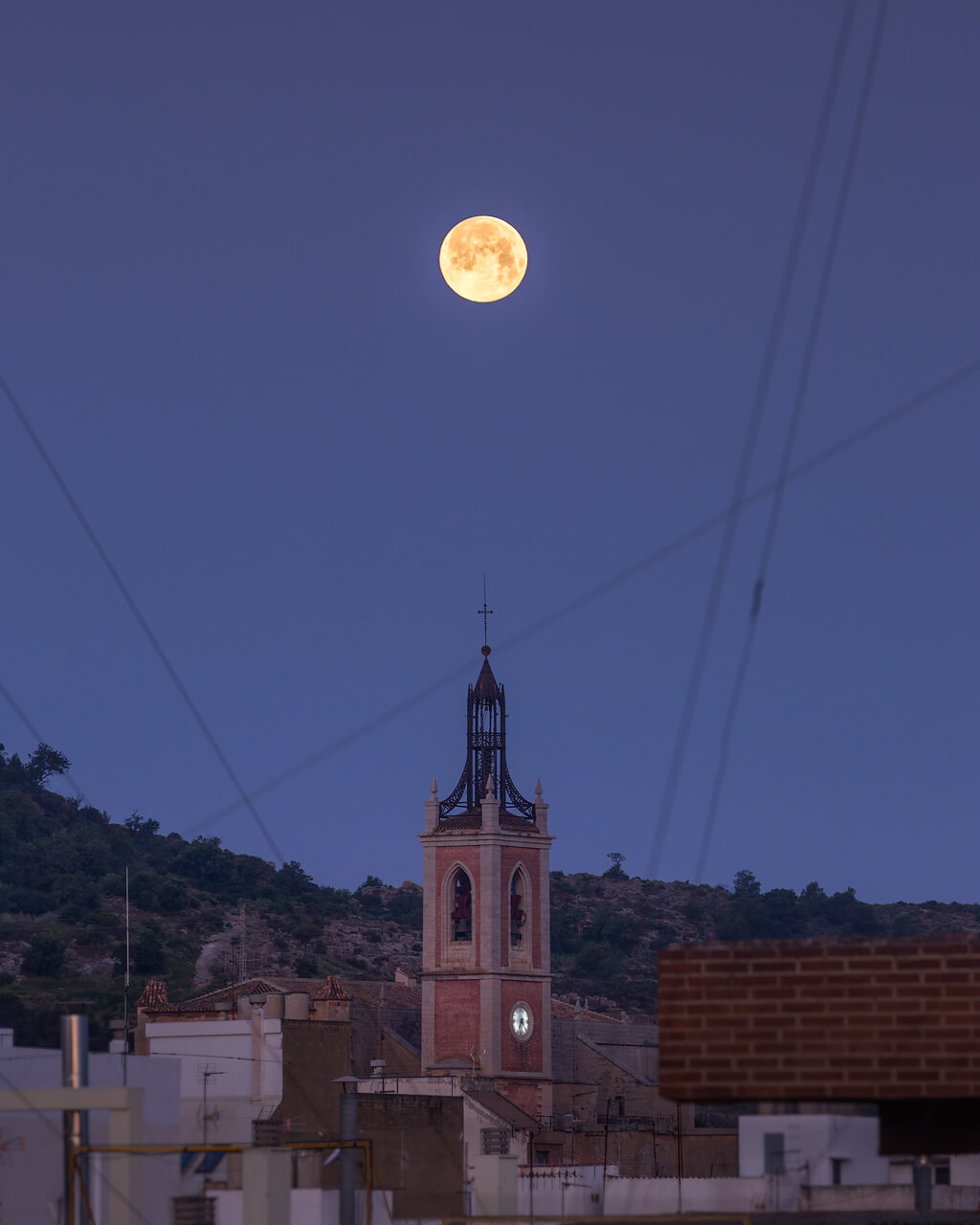 Full Moon over Church of Santa María Sagunto