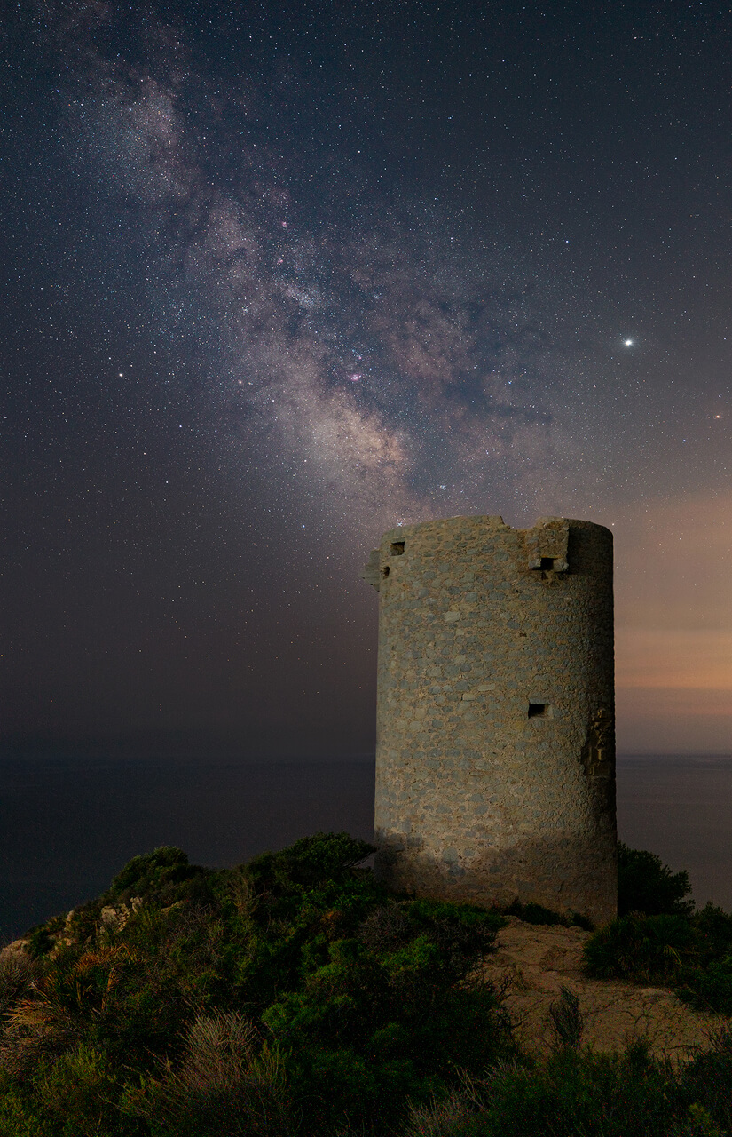 Milky Way over the tower