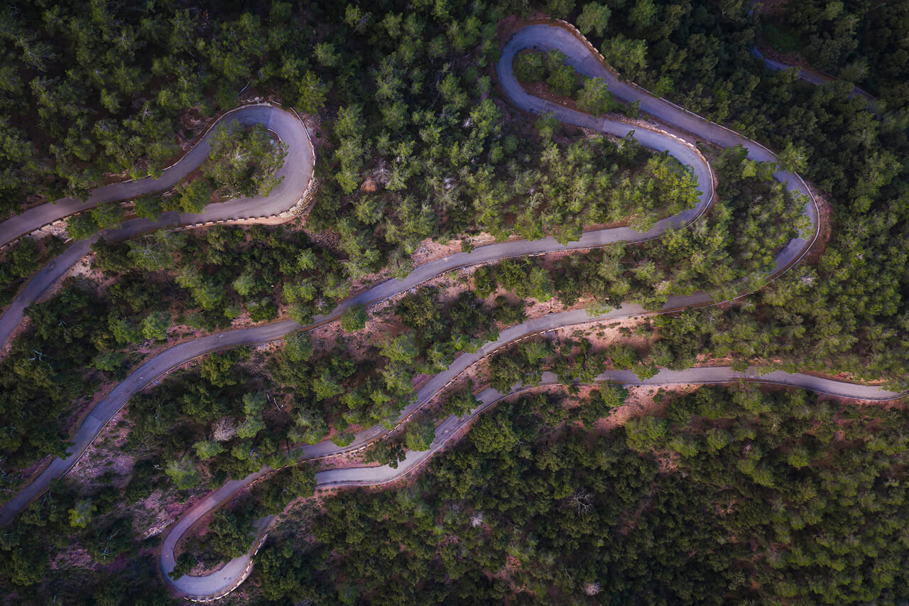 Mountain Road From Above - DJI Mavic2 Pro