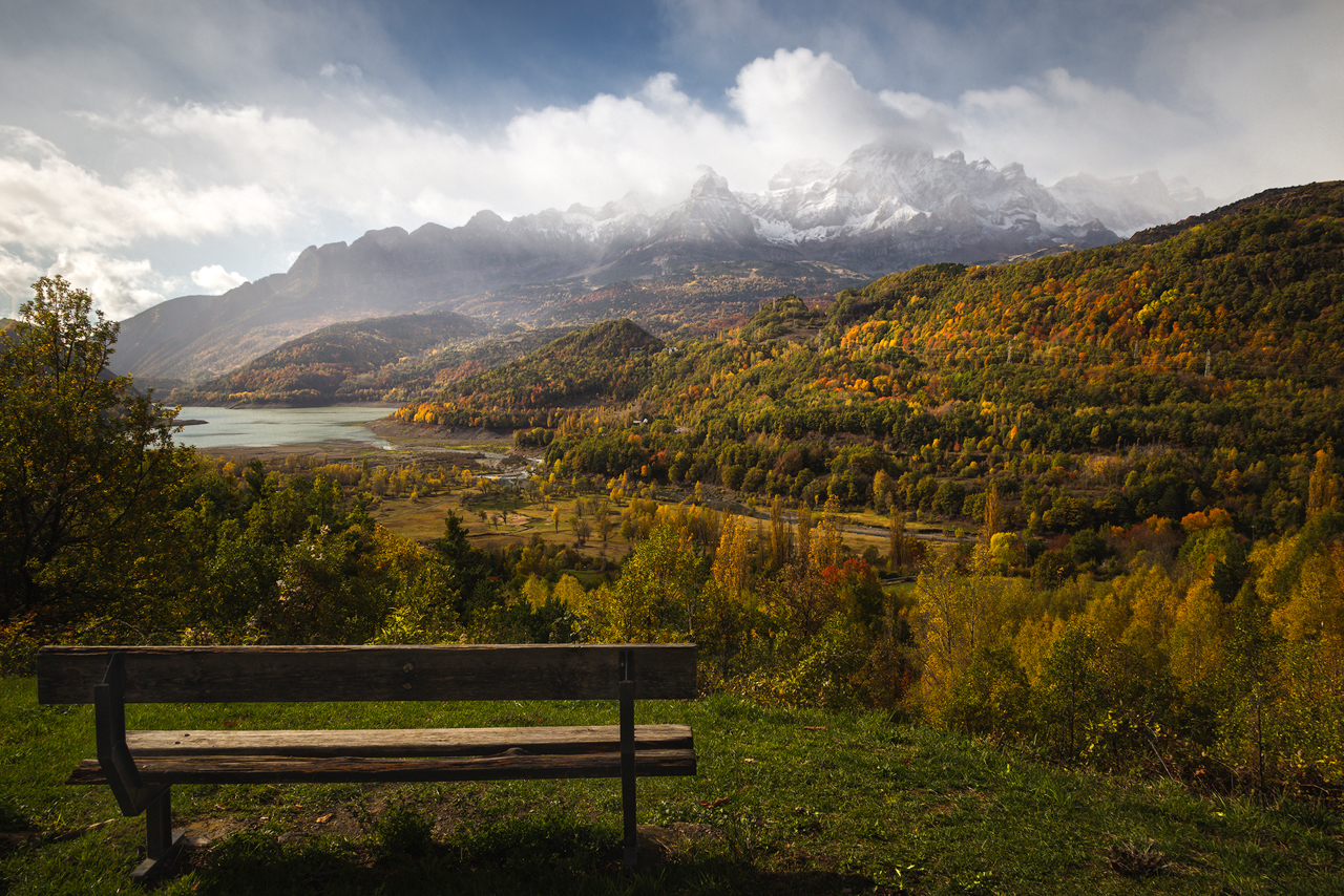 Panticosa viewpoint of mountains