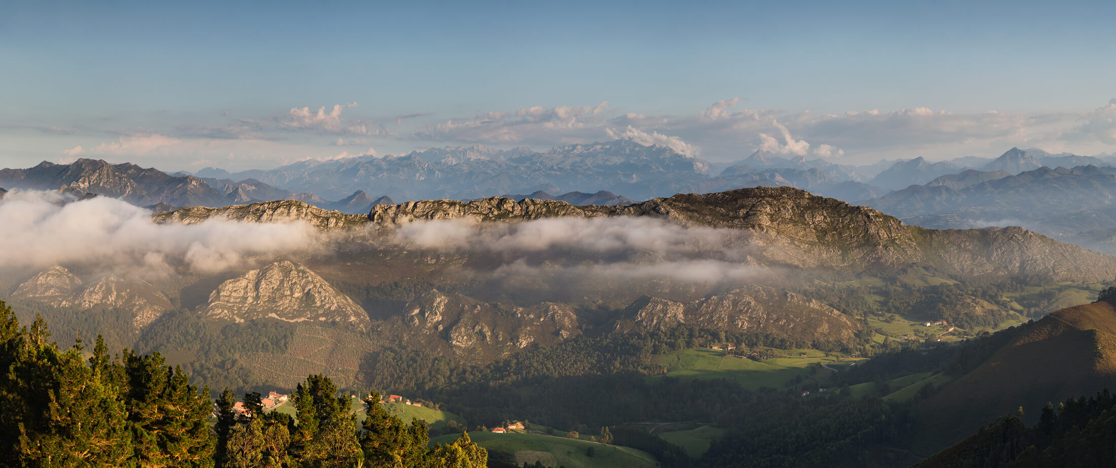 Picos de Europa Sunset with clouds and haze