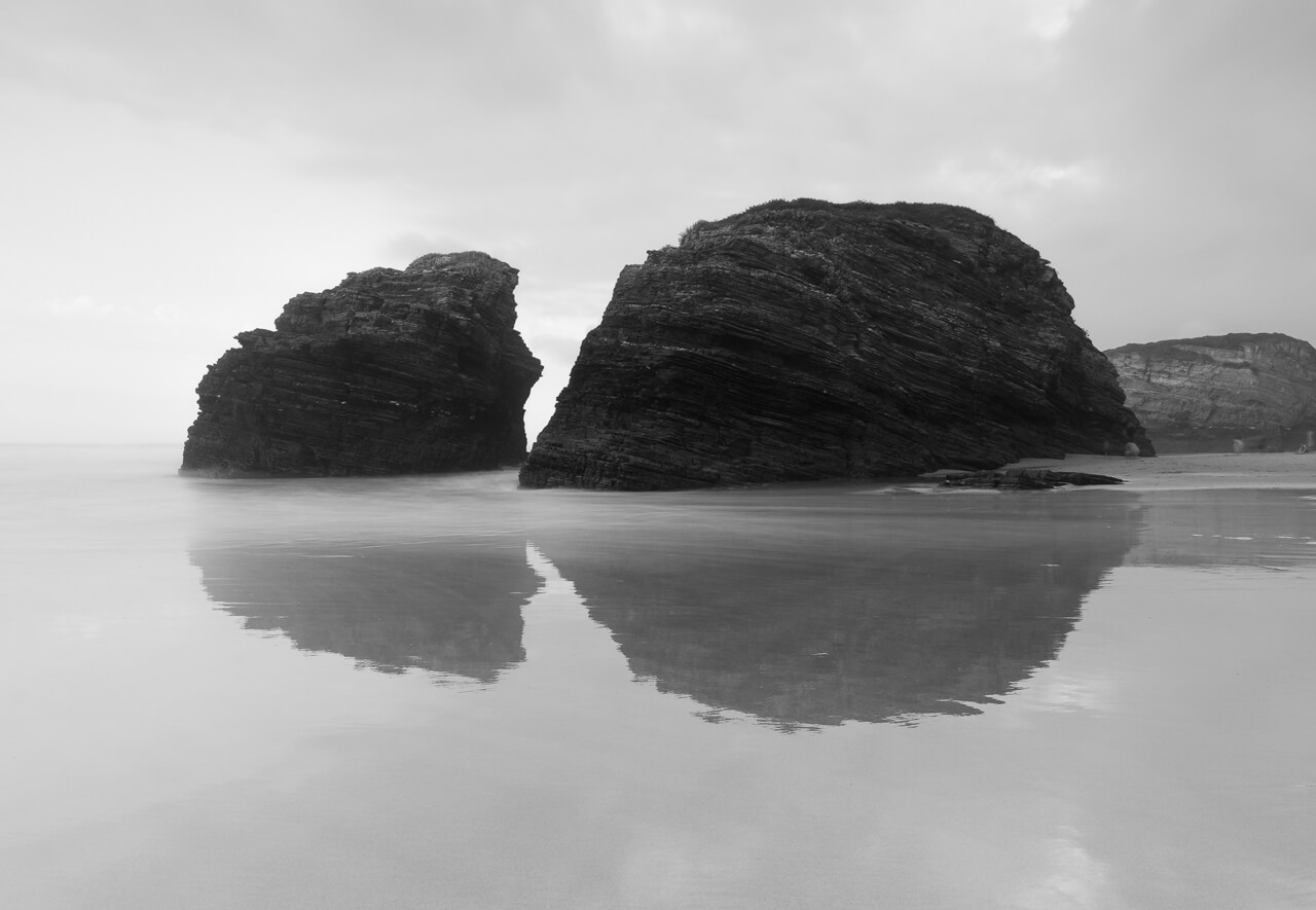 Cathedrals beach reflections