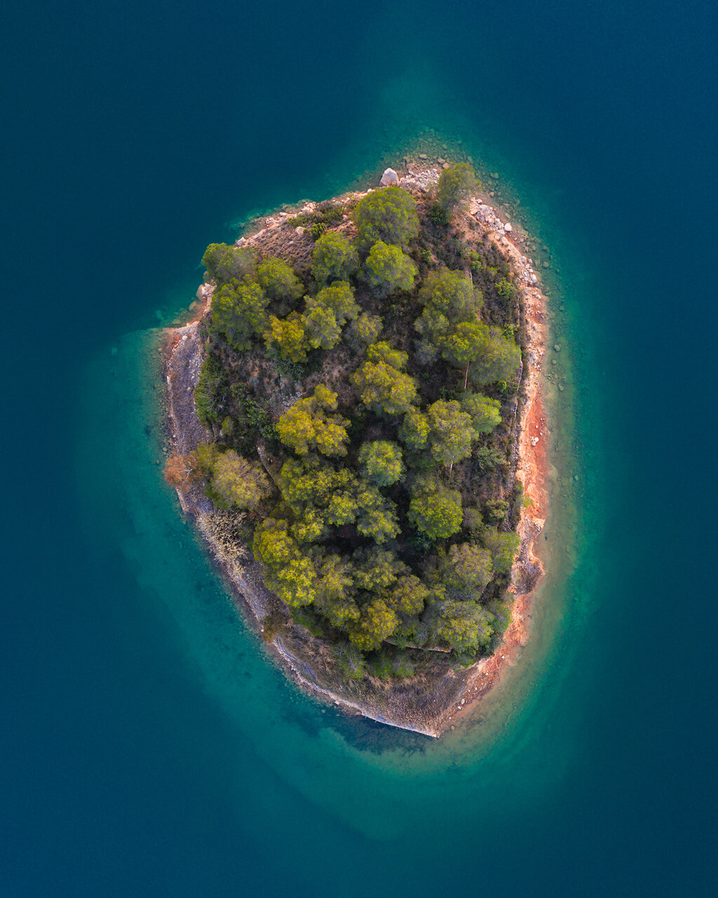 Small Island At Embalse Del Sitjar - DJI Mavic2 Pro